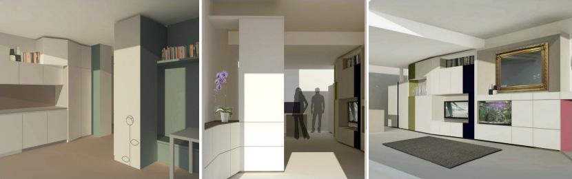 Progettare casa: ecco alcune idee di arredo soggiorno con angolo cottura - Okapì - Mobili su misura